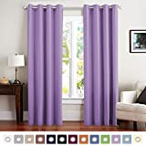 Vangao Blackout Curtains Lilac Thermal Insulated Room Darkening Curtain Panels Grommet Top Window Decorative Drape for Kids Bedroom/Living room, 1 Panel, 52x63 Inch