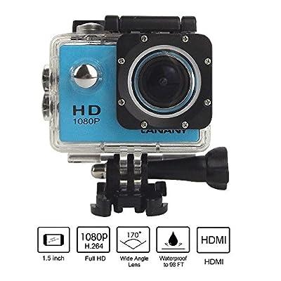 "Brotherhood HD 1080P Sports Helmet Action Waterproof Camera As Go Professional Underwater Camcorder Kit - DSP:NT96650 + 1.5"" LPS-TFT LCD + Bonus Battery + 140° Wide Angle Lens Blue by Brotherhoood"