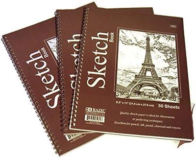 """3 Pack Art Sketchbooks 8.5"""" x 11"""""""