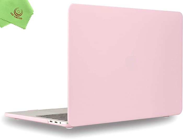 UESWILL MacBook Pro 13 inch Case 2019 2018 2017 2016, Smooth Matte Hard Case for MacBook Pro 13 inch (USB-C), with/Without Touch Bar, Model A2159/A1989/A1706/A1708, Rose Quartz