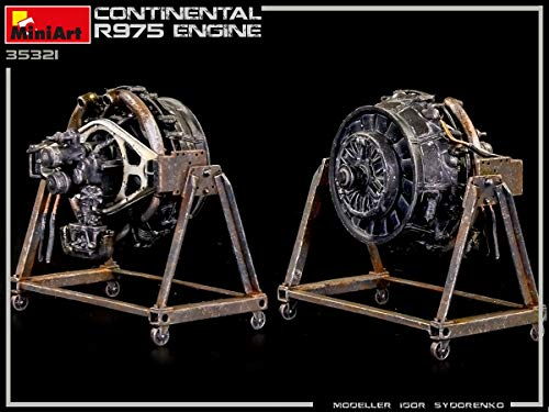 MiniArt 35321 - Continental R975 Engine WWII 1/35 Scale 7