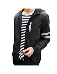 URBANFIND Men's Regular Fit Spring & Autumn Hooded Varsity Jacket