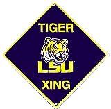Signs 4 Fun SD67021 Louisiana State Tigers Xing Crossing Sign