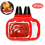 Adusa Dip Clip - an in-car Sauce Holder for Ketchup and Dipping sauces.(2 Pack) (Red)