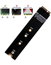 QNINE M.2 NGFF SATA to A1465 A1466 ONLY 2012 Year Adapter for MacBook Air SSD Replacement, HDD Hard Disk Drive Converter Card Support 2230 2242 2260 2280 SSD