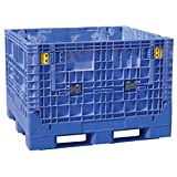 Buckhorn BN4845342023000 Extra-Duty 48'' x 45'' x 34''  Collapsible Bulk Box, Blue