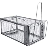 Gingbau Humane Live Rat Trap Cage for Chipmunk Mouse and Small Rodent Animals