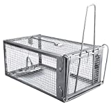 Gingbau Chipmunk Trap Humane Live Rat Trap Cage for Mice and Other...