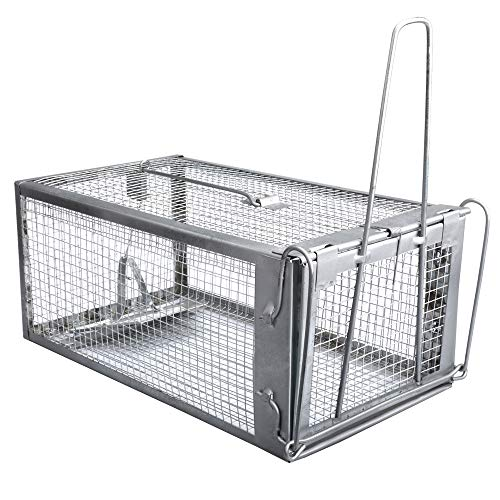 Gingbau Chipmunk Trap Humane Live Rat Trap Cage for Mice and Other Small Rodent Animals ()