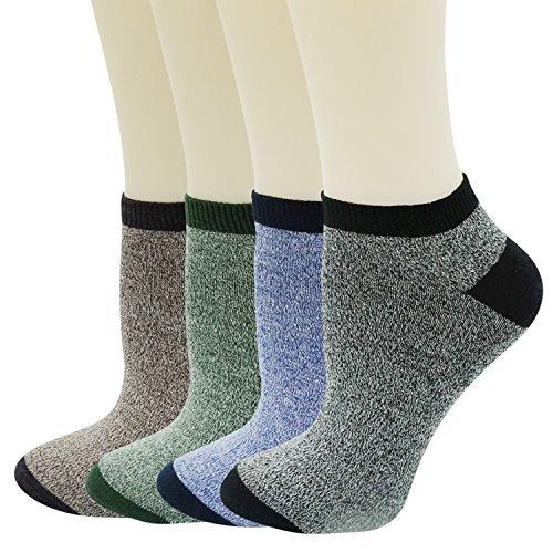 Womens Low Cut Socks No Show Basic Cotton Soild Short Liner Ankle Socks 4 Pack