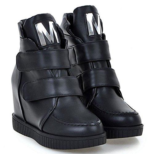 Velcro Women's Black Taoffen Boots Taoffen Women's Zwqg48Inx