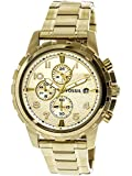 Fossil Mens Dean Quartz Stainless Steel Chronograph Watch Color Gold Tone Model FS4867