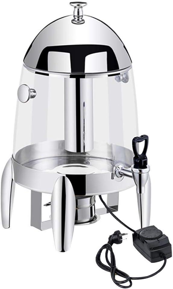 X-L-H 12L飲料ディスペンサー、電気加熱飲料ディスペンサー、ステンレス蛇口、ふた付き、水用、ジュース、ビール、コーヒー、ワイン、白ワイン (Color : PC A, Size : Heating plate)