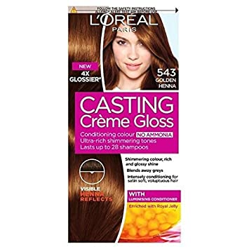 L Oreal Casting Creme Gloss Golden Henna 543 Amazon Co Uk Beauty
