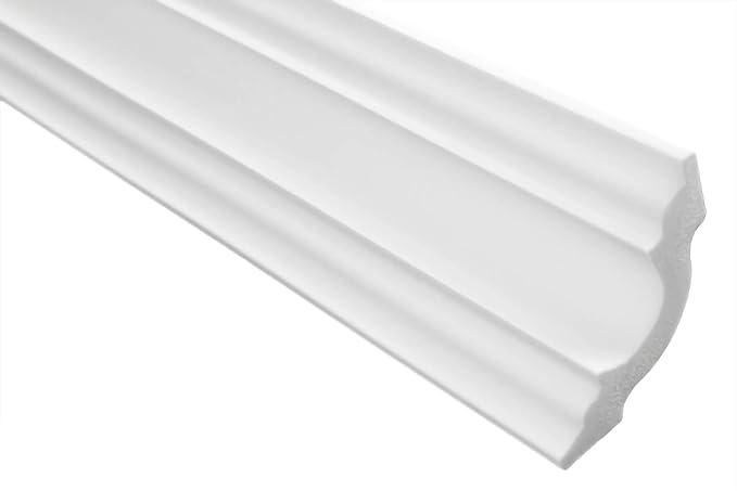 riesige Auswahl leichte und stabile Profile f/ür Decken-// und Wand/übergang modern wei/ß dekorativ XPS 2 Meter 31 x 31 mm E-28 Stuckleisten aus Styropor