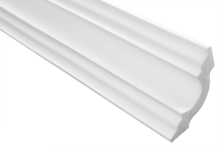 20 Meter blanc 10 Faire Moulure en Stuc Professionnel Dur Blanc Lisse Marbet 50x50mm E-14