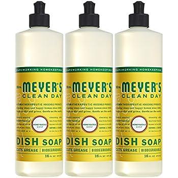 Mrs. Meyer's Clean Day Dish Soap, Honeysuckle, 16 fl oz, 3 ct