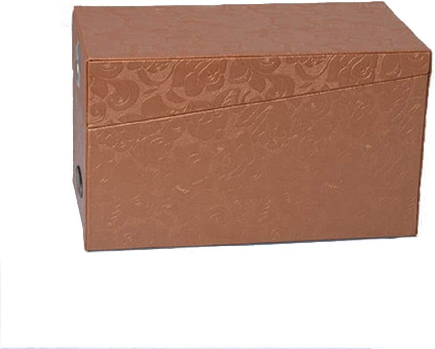 レコードケース LP用 DVD/CD収納ボックスプロテクターオーガナイザービニール・レコードケースLPアルバムボックス (色 : ゴールド, サイズ : 29X17X14CM)