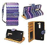Stylish Tribal Design Wallet Leather Case for LG Volt 2 LS751 LG Magna