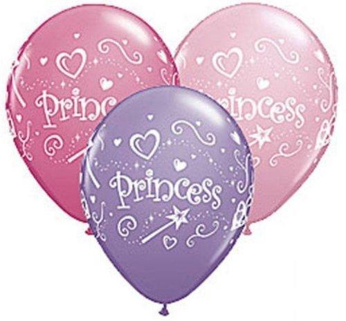 PRINCESS Wand Heart Tiara Pink Purple (12) 11' Latex Birthday Party Balloons -