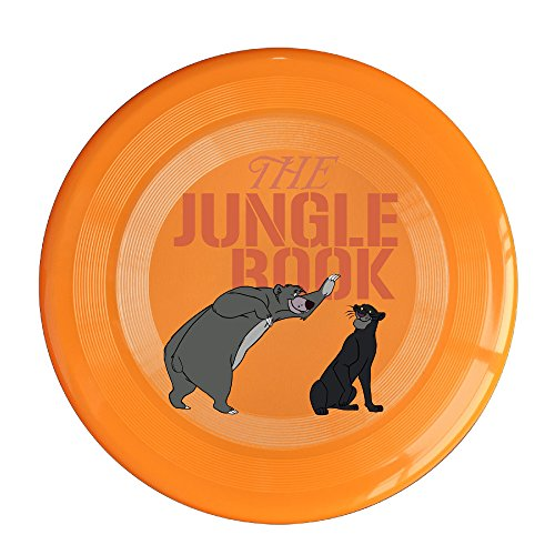 WG Unisex Bear Baloo And The Black Panther Bagheera The Jungle Bear Outdoor Game Frisbee Flyer Frisbee Orange