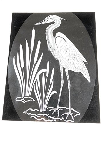 DCentral Egret and Cattails Removable Window Decal. Look of Etched Glass.8