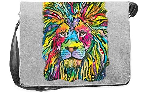 Löwen-Umhängetasche/Tasche-Vintagelook mit Wildkatzen-Neon-Druck: Lion Good cooler Look