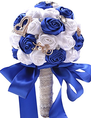 Favebridal Artificial Flowers Silk Rose Bridal Wedding Bouquet WF036RB