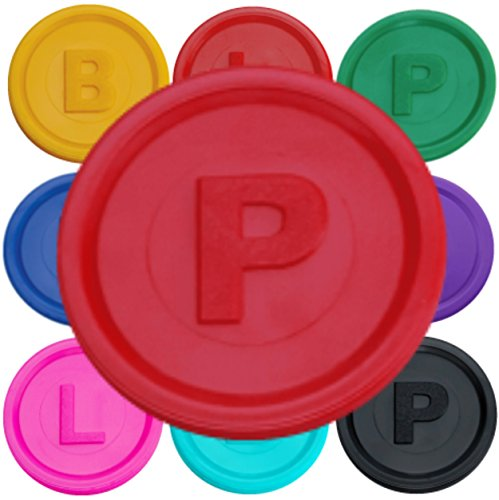SchwabMarken 500 Token Red P Bottle Bill Game Tokens Container Deposit Pledge Learning Counting Counters Refund Coins Chips Available with Letters B, P, or L and Many