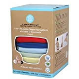 Charlie Banana 2-in-1 Reusable Diapers, Boy, 6 Diapers- One Size + 12 Inserts