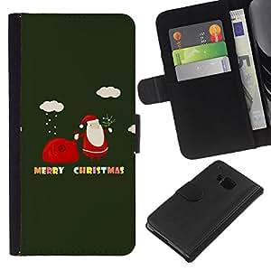 All Phone Most Case / Oferta Especial Cáscara Funda de cuero Monedero Cubierta de proteccion Caso / Wallet Case for HTC One M9 // Winter Christmas Merry Holidays Gift