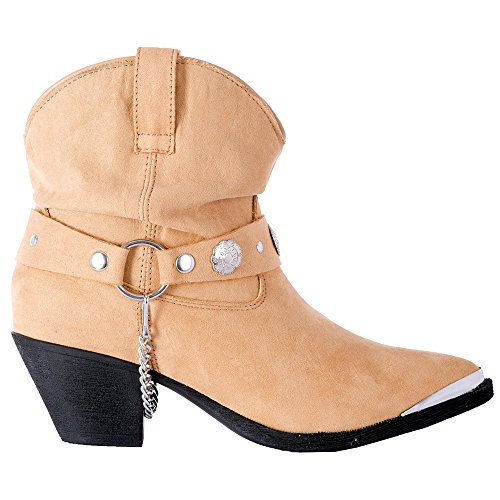 M Dingo Western DI8941 Toe Womens Fiona Fashion Dancer Boots 7 Tan wpxFqwA
