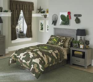 Amazon Com 4pc Boy Green Brown John Deere Camouflage Twin