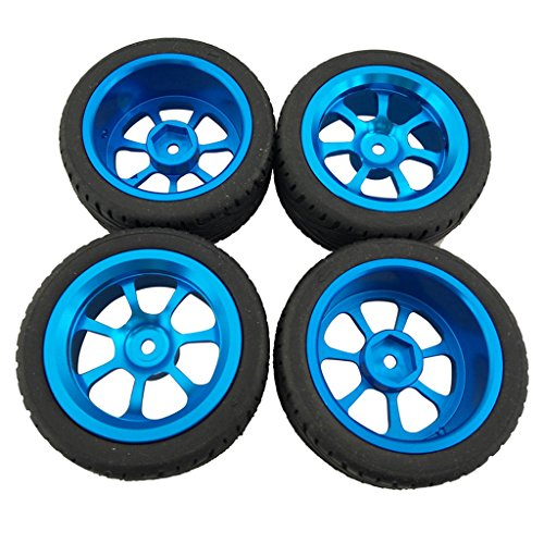 MonkeyJack 4 Pieces Alloy Rims & Tires RC Car Wheels for 1/18 WL Toys A949 A959 A969 A979 K929 A959-b -  b0b9dfe83f62169974af6b0fc5b6a899