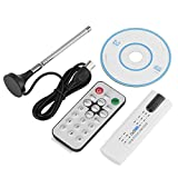 Richer-R New USB 2.0 Digital TV Tuner HDTV Stick Receiver with Antenna Remote Control