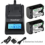 Kastar Ultra Fast Charger Kit and BN-VG114 Battery (2-Pack) for JVC BN-VG107 BN-VG107U BN-VG108U BN-VG108E BN-VG114 BN-VG114U BN-VG114US Rechargeable Lithium-ion Battery