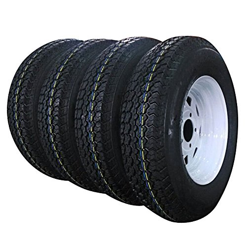 Set of 4 Trailer Tires & Rims 13
