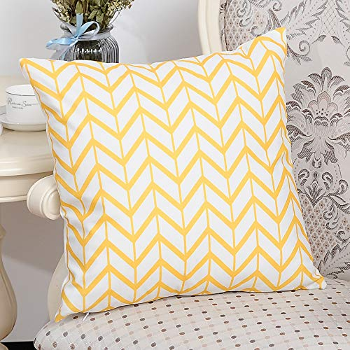 (Cotton Flannel Throw Pillow Cover, Fulijie Square Home Decor Throw Pillow Case Sofa Waist Cushion Cover 18 X 18 Inch)