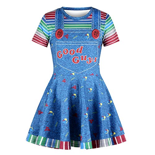 IZOcean Girl Halloween Bloody Scare Doll Style Cosplay Ghost Idea Costume Dress for $<!--$14.99-->