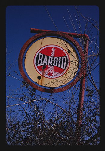 40 x 60 Gallery Wrapped Framed Art Canvas Print of Baroid Oil Sign, Rt  11,  Sweetwater, Tennessee 1984 Roadside Americana Ready to Hang 52a