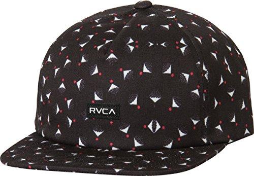 RVCA Men's Partical Five Panel Hat, Black, One Size