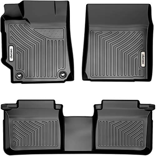 OEDRO Floor Mats Compatible with 2015-2017 Toyota Camry Standard Models, Unique Black TPE All-Weather Guard Includes 1st and 2nd Row: Front, Rear, Full Set Liners (Standard Models Only)
