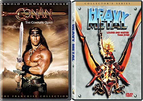 SO MANY QUESTS... Nerds! The Ultimate Fantasy SciFi Collection: Conan The Complete Quest (The Barbarian/ The Destroyer) + Heavy Metal (Collector's Series) DVD Triple Feature Bundle ()