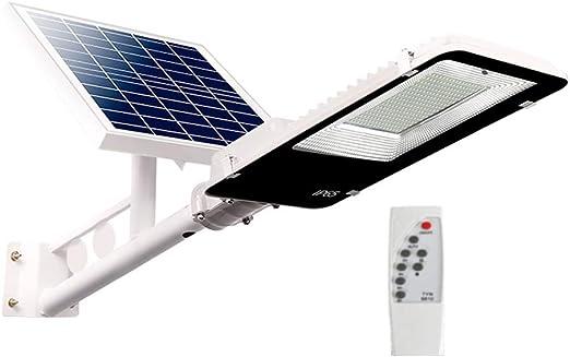 WFTD Farola Solar, reflectores de Exterior LED Impermeable IP65 Lámpara de Seguridad de Alto Brillo con Control Remoto Luz de jardín Puede iluminar Toda la Noche,200W: Amazon.es: Jardín