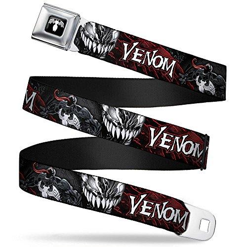Venom Pose/expression Gray/black/red/white Seatbelt Belt