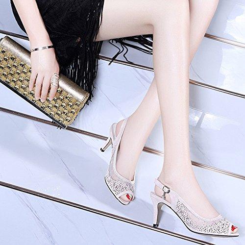 Women's 5 cn37 B Heel Pu Haizhen color Spring Size Women Buckle Shoes Soles 4 Heels Low Eu37 A For Light Summer Casual uk4 Eqqf1Rw