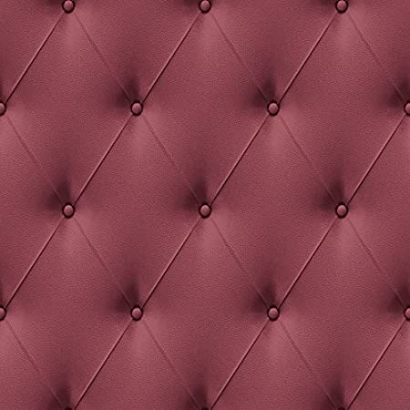 Skins Faux Leather Ox Blood Red Chesterfield Wallpaper 670519