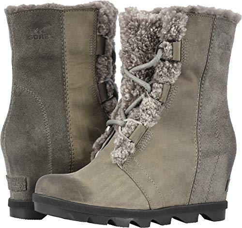 - Sorel Joan of Arctic Wedge II Shearling Winter Boots - Women's Quarry 10.5