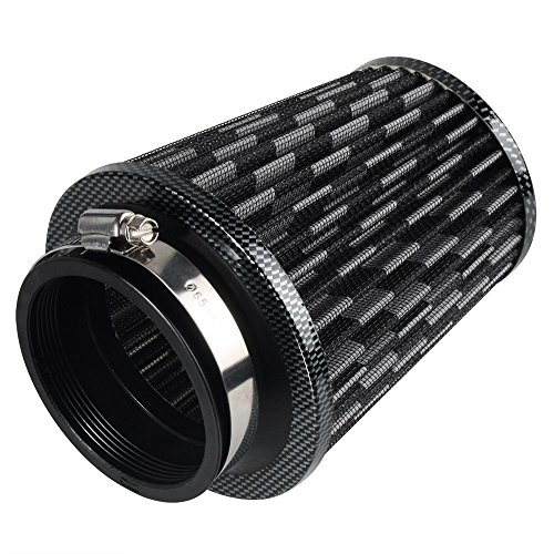 neverland-modified-high-flow-76mm-3-inlet-cone-air-intake-filter-cleaner-carbon-color