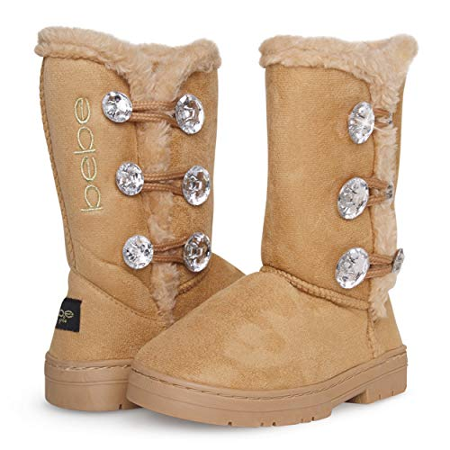 bebe Girl's Fur Lined Winter Boot with Rhinestone Details (Toddler/Little Girl/Big Girl) – The Super Cheap